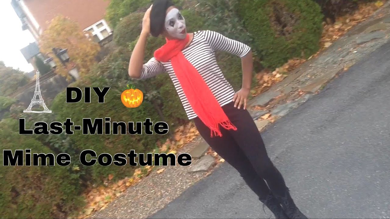 diy last minute mime costume makeup outfit youtube. Black Bedroom Furniture Sets. Home Design Ideas