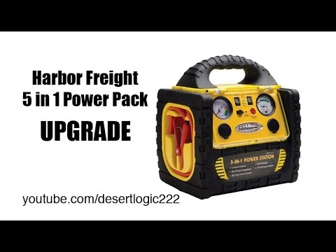 Harbor Freight 5 in1 Portable Power Pack $55 Upgrade