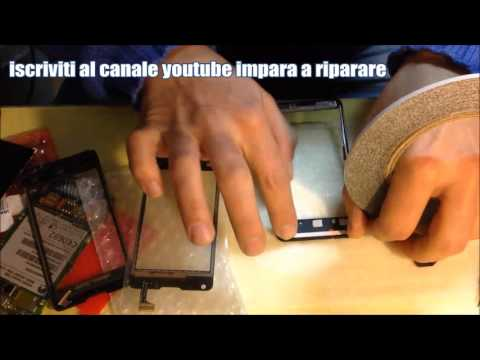 huawei ascend y300 cambi vetro replace touch digitalizer
