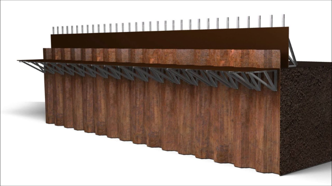 Fast Form Sheet Pile Capping Beam 3d Animation Youtube