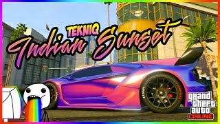 """GTA Online - ABSOLUTELY MIND-BLOWINGGG COMBO!!! """"Tekniq - Indian Sunset"""" #LowriderDLC"""