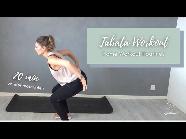 TABATA WORKOUT - 20 min | Zonder materialen | Believe indoortraining | Charda Stefanov