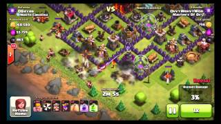 Clash Of Clans ALL MAX BARBARIAN RAID 240 Level 7 Barbarians YouTube