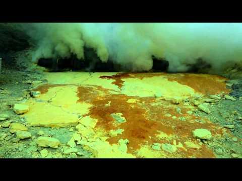 Ijen Volcano - The Largest Lake of Acid on Earth - Java, Indonesia