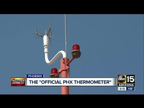 ABC15 takes a look at the official Phoenix thermometer