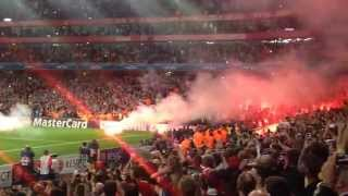 Galatasaray Fans go crazy during Arsenal's match! Galatasaray Fans burn down the Emirates Stadiun