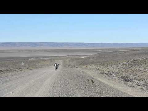 Patagonia & Tierra del Fuego Motorcycle Tour: Day 8 - Ruta 40 riding on a windy day of gravel