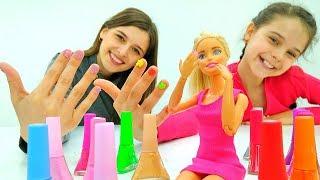 Модный маникюр для Барби! - Видео с куклами – Игры в одевалки.