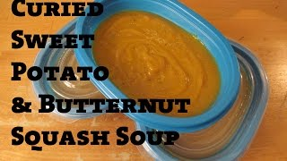 Curried Sweet Potato And Butternut Squash Soup