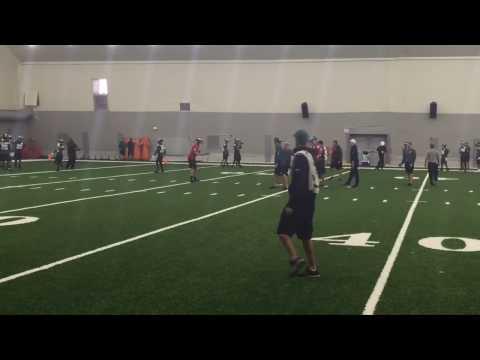 Eagles quarterbacks Carson Wentz, Sam Bradford, Chase Daniel throw vs. simulated pass rush at minica