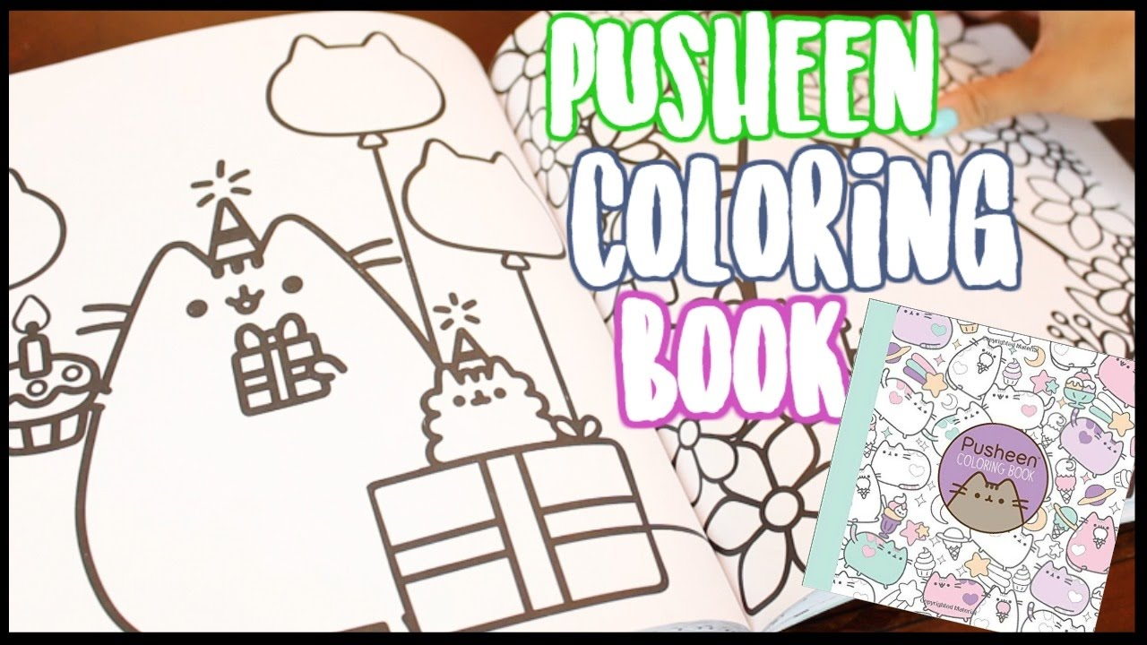 pusheen coloring book flip through