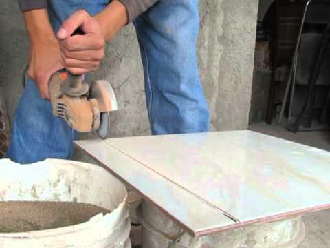 Cortar Loseta Ceramica O Mosaico Con Esmeril Youtube