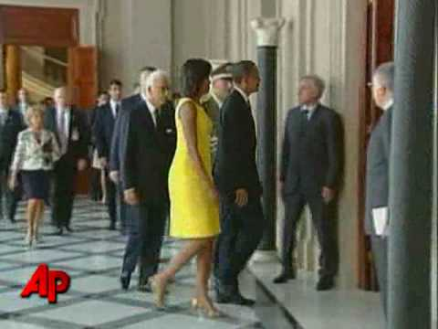 Raw Video: Obama Arrives in Italy for G8