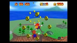 """SM64 [TAS] - Mario Wings to the Sky (21""""37)"""