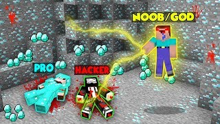 Minecraft Battle: WAR FOR DIAMONDS CHALLENGE! NOOB vs PRO vs HACKER vs GOD in Minecraft Animation