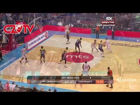 Player of the game : Kuzmić | BC Crvena zvezda mts - Fenerbahce, EuroLeague, Round 17
