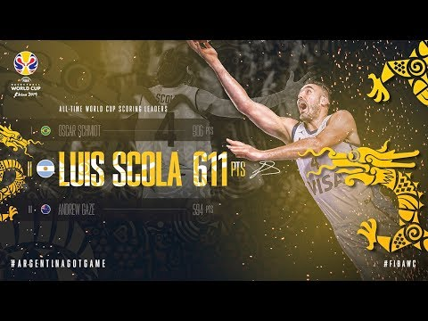 Luis Scola is the #2 All-Time FIBA Basketball World Cup Scoring Leader!