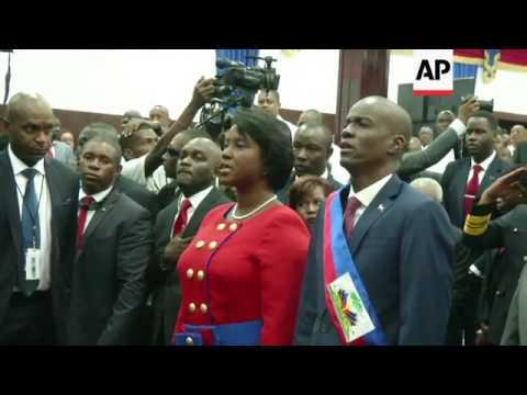 Jovenel Moise sworn in as president of Haiti