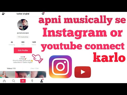 How to add your INSTAGRAM and YOUTUBE on your MUSICALLY