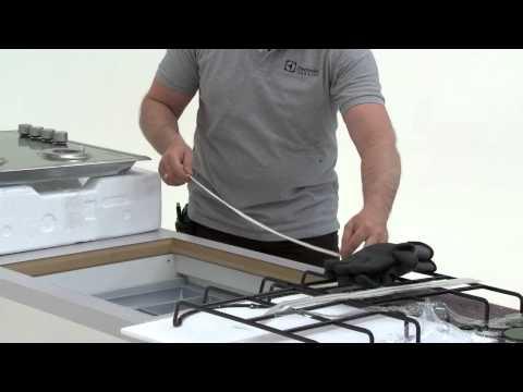 Electrolux. Установка газовой варочной поверхности
