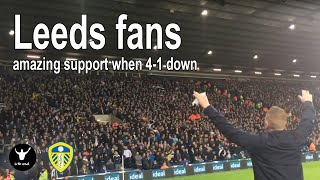 Leeds fans give amazing support when 4-1 down at West Brom - outsinging them until the end.