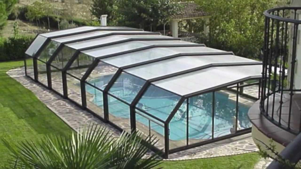 Cubiertas para piscinas unisur youtube for Fotos de piscinas cubiertas