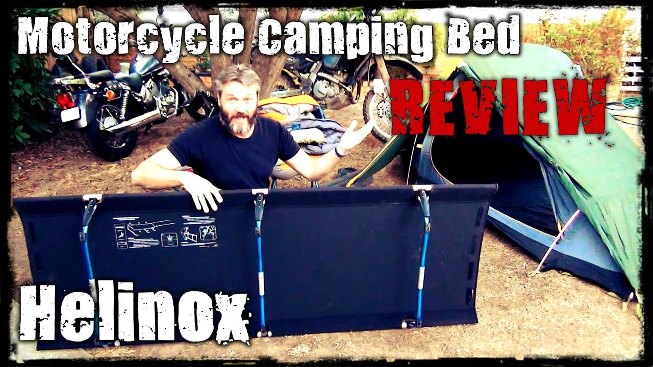 Motorcycle Camping Bed - Helinox Cot One - YouTube