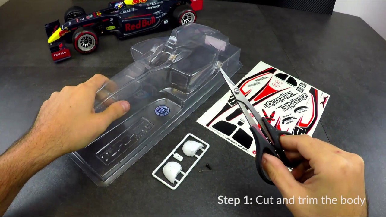 HOW TO prepare our TYPE-6R F1 body shell from 0 to 100%!