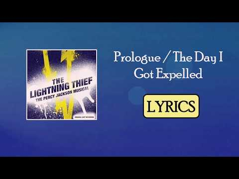 Prologue/The Day I Got Expelled from The Lightning Thief Musical LYRICS