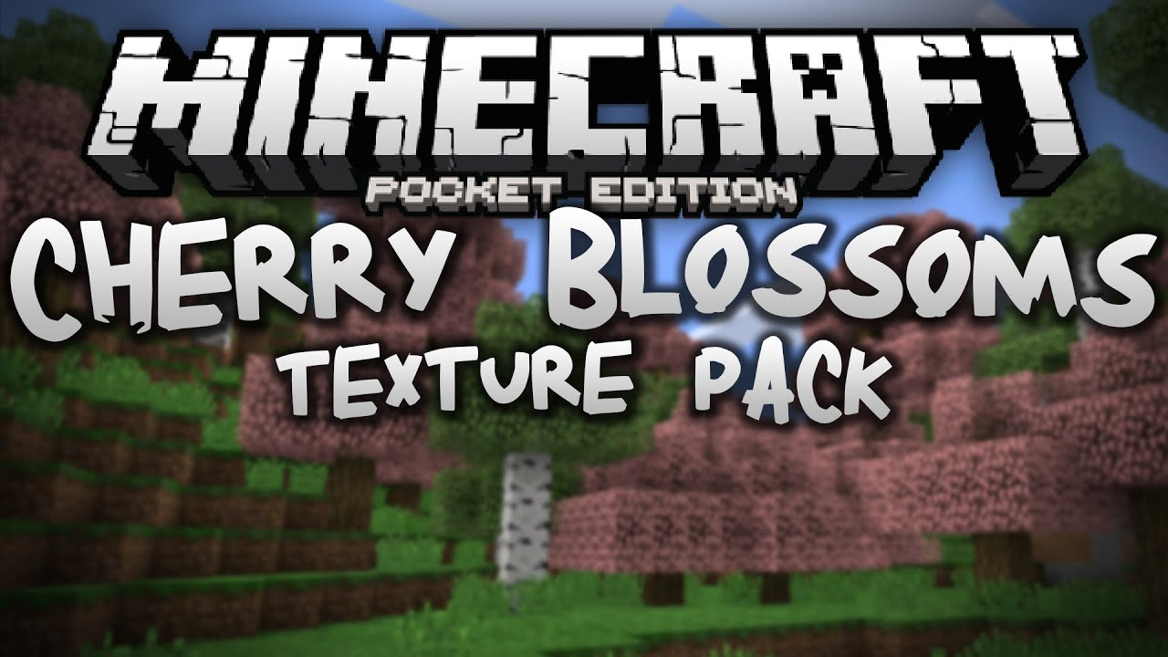 Cherry Blossoms Texture Pack Review Minecraft Pe Pocket Edition Youtube