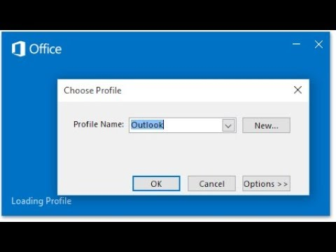 Turn Outlook Profile Prompt On Or Off Outlook 2016 | Outlook Choose Profile  Fix