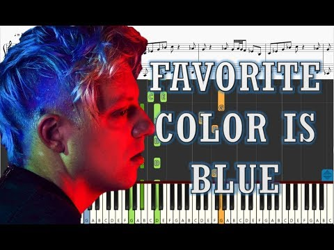 Robert DeLong ft. K. Flay - Favorite Color is Blue - Piano Tutorial w/ Sheets