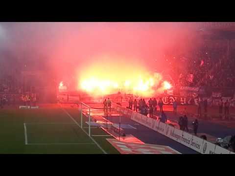 Eintracht Braunschweig vs Hertha BSC Pyro Gästeblock 08.12.2013