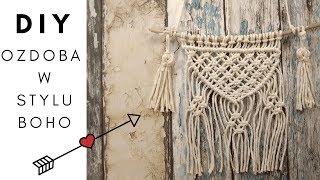 DIY: Makrama na ścianę krok po kroku!