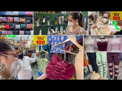 Sarojini Nagar Market Delhi   Post Lockdown Collection   Trendy Tops, Bags, Shoes Starting Rs 10