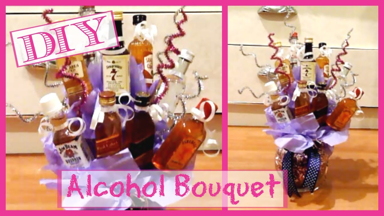 Diy Alcohol Bouquet │ Alcohol Bottle Arrangement │gift