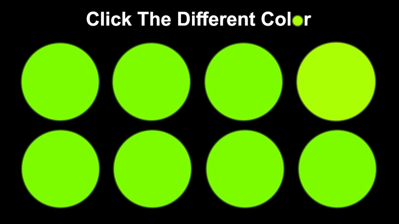can you actually see all the colors