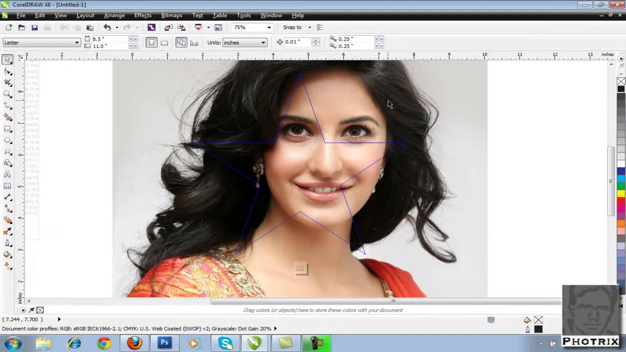 corel draw tutorial wrap text hindi/urdu