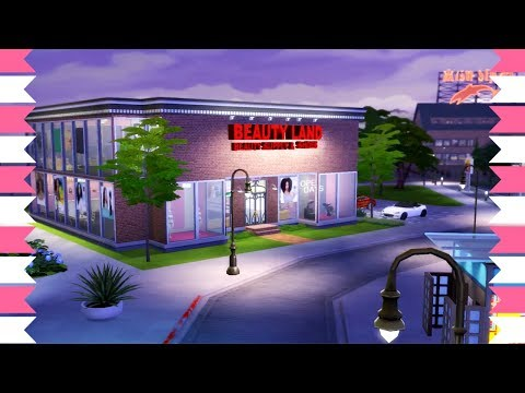 The Sims 4 LARGEST Beauty Supply Store + Salon SPEED BUILD
