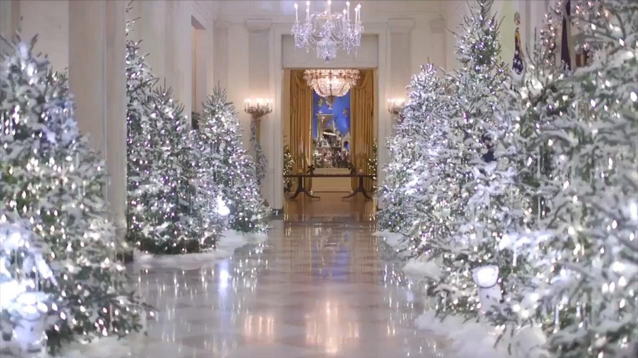 an inside look at melania trumps white house holiday decorations