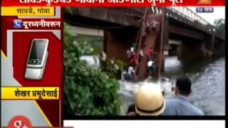 Goa 50 people Fall In River As Bridge Breaks