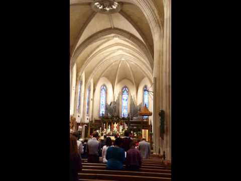 Joy to the World, the recessional hymn at St. Philip's Cathedral