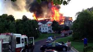 Camden crest apartment fire in Raleigh North Carolina