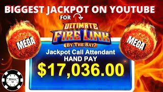 🔥BIGGEST JACKPOT ON YOUTUBE FOR ULTIMATE FIRE LINK 🔥MEGA JACKPOT (2) MASSIVE HANDPAY 🔥MOHEGAN SUN
