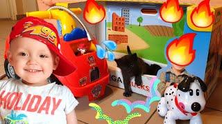 Щенячий патруль #Маршал спасает котят от пожара Видео для детей Dzidzika TV Funny kids video