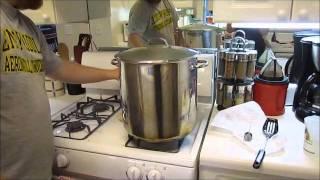 Making Hard Strawberry Lemonade