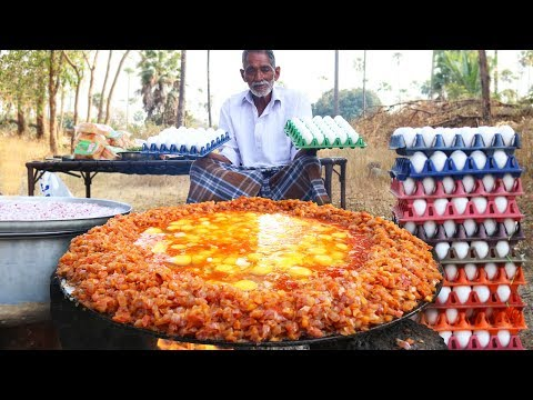 The Biggest Scrambled Eggs by Grandpa | How To Make Perfect Scrambled Eggs