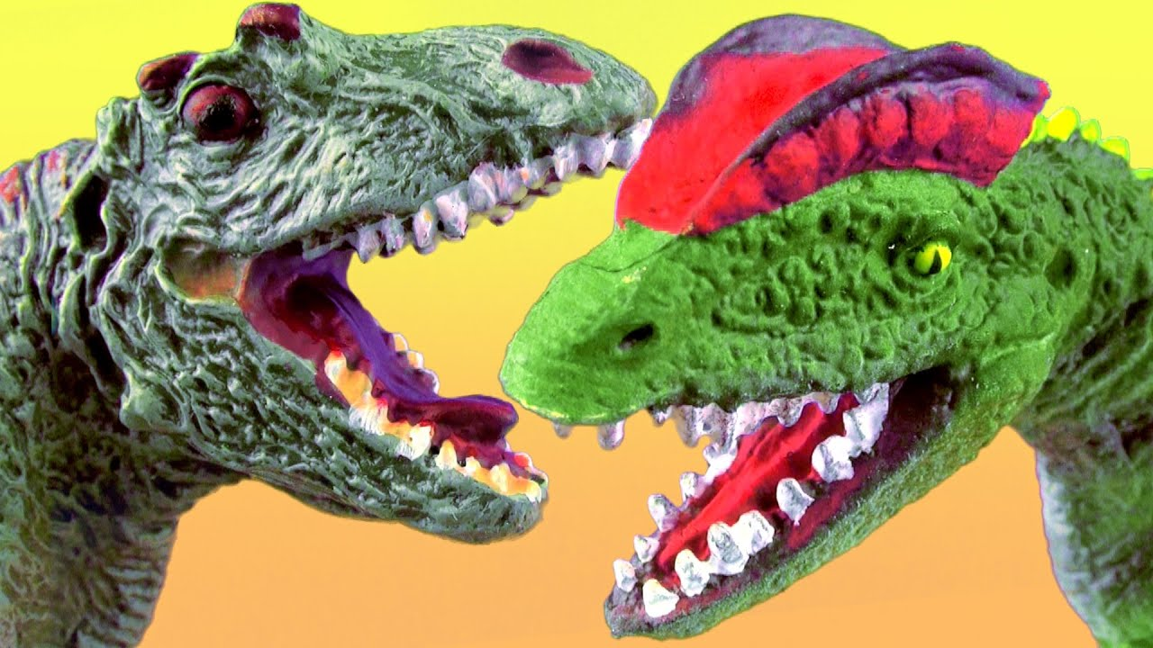 Dinosaur Fight - Dilophosaurus vs Allosaurus - T rex Epic ...