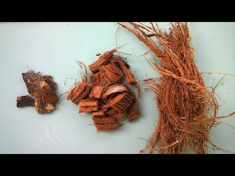 Кокос для орхидей. Кокосовые чипсы, кокосовое волокно. DIY coco fibre and chips. Доминикана. Часть 2
