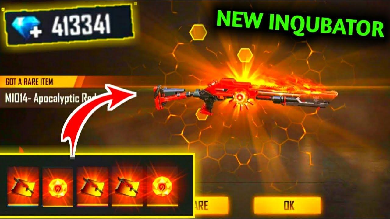 FREE FIRE NEW INCUBATOR RAMPAGE APOCALYPSE|I GOT APOCALYPSE GOLD M1014 SKIN!